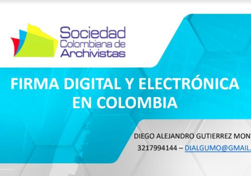 Webinar Firma Digital Y Electrónica - SCA